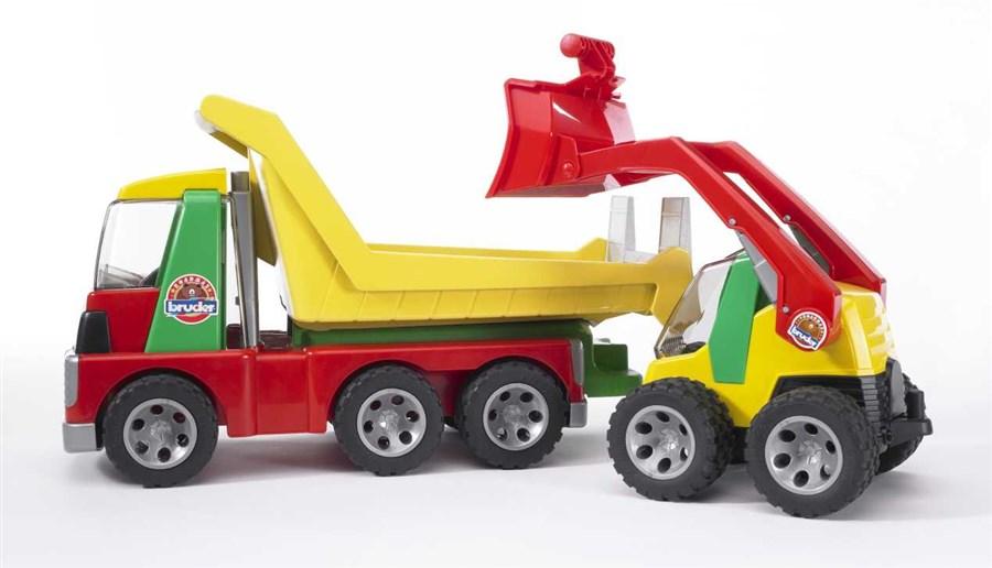 F.025 Bruder vrachtwagen en shovel