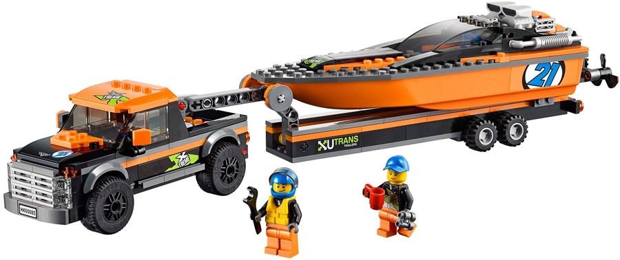 F.013 Lego Speedboot met auto