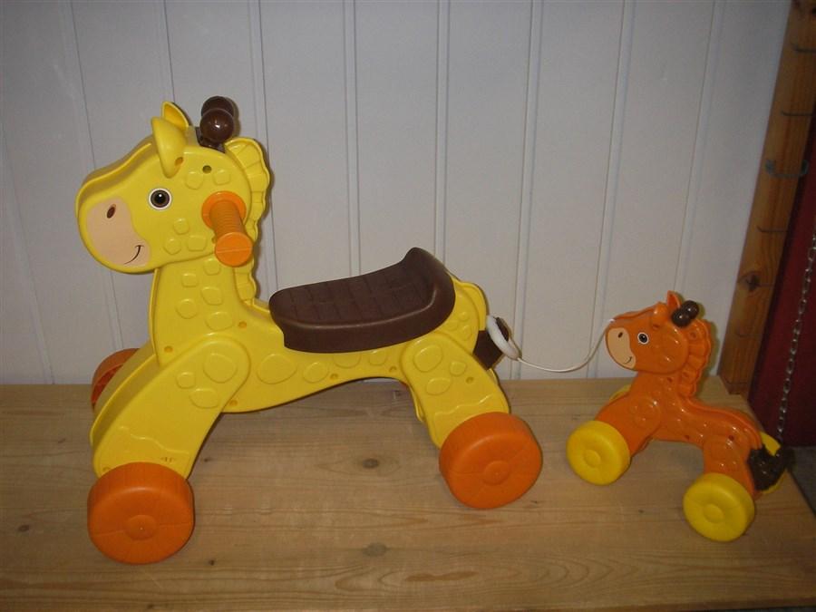 B084 Loopfiets Giraffe met baby