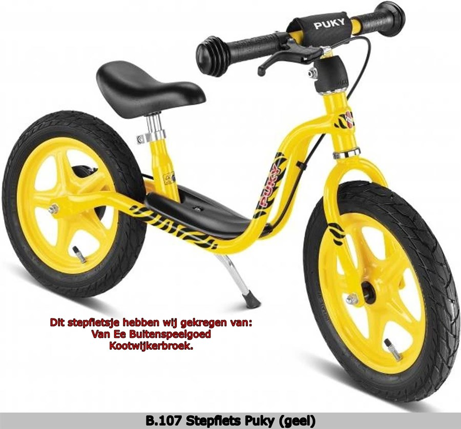 B107 Stepfiets Puky geel