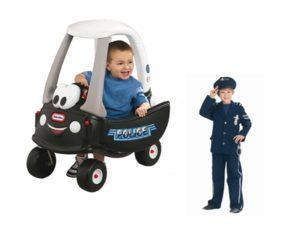 B.077 Politieloopauto LT met politiepak maat 128