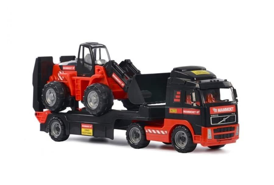 F040 Vrachtwagen met shovel Mammoet