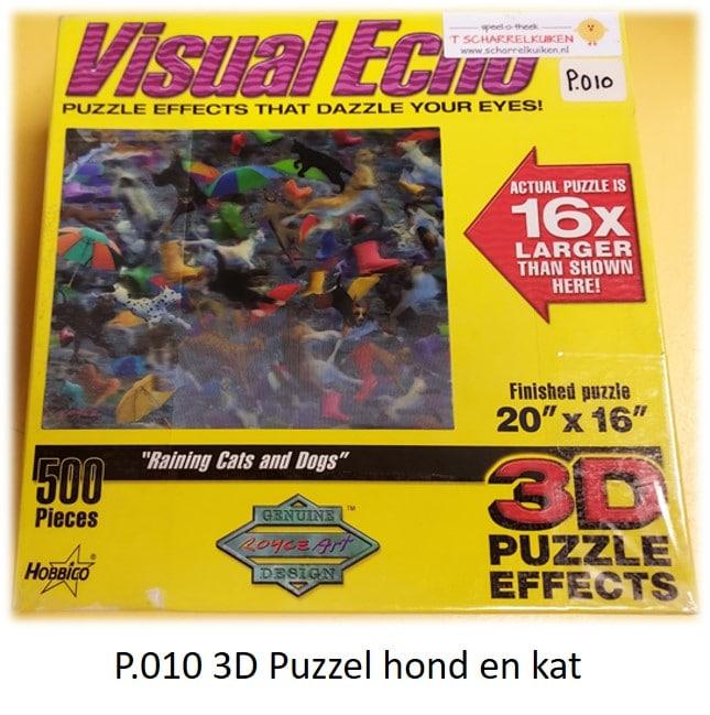P.010 3D Puzzel Hond en Kat